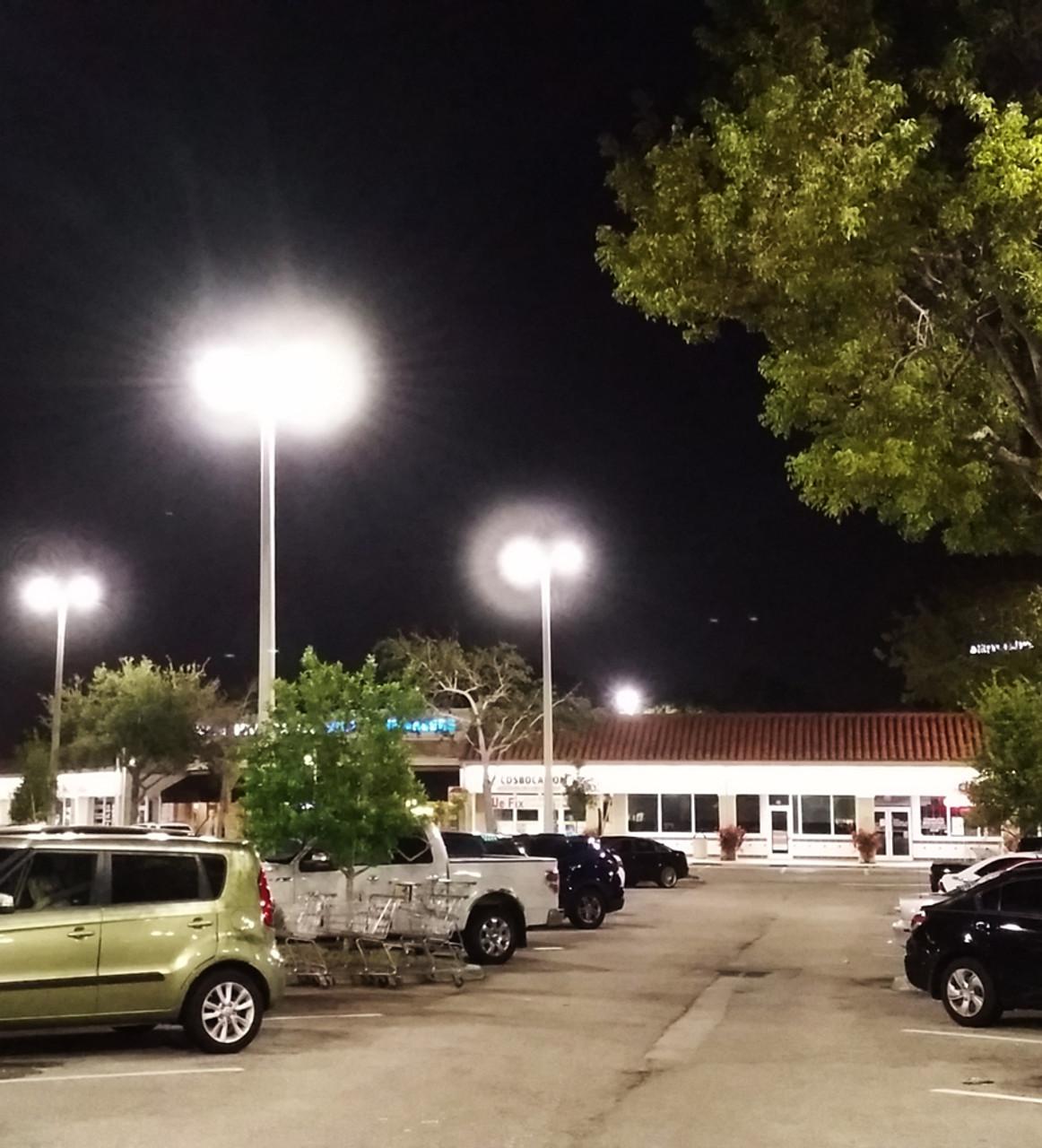 300W Led Street Light Dusk To Dawn Outdooor Pole Mount Led Parking Lot Light