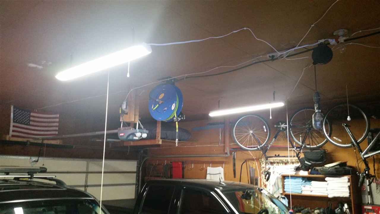 48 watt led garage shop light fixture - 4 foot ceiling mount
