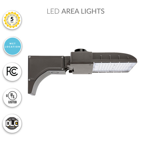 LED Parking Lot Light -  Pole Mount with Photocell - 40 Watt and 5000K