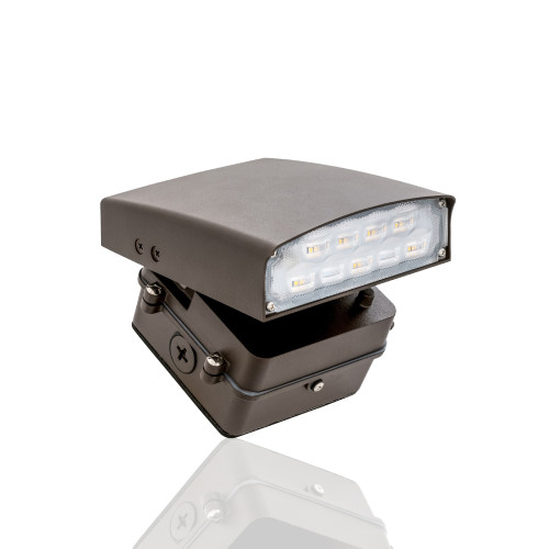 Adjustable LED Wall Pack  - Can Be Used as a Flood or Cut Off Wall Pack, 12 Watt, 1100 Lumens, 3000K