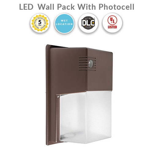 LED Wall Pack With Photocell