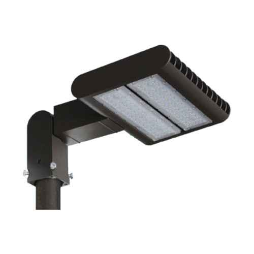 LED Exterior Flood Light Fixture - Can be used for all LED Outdoor Flood Lighting Requirements, 100 Watt - 10,000 Lumens,  With Adjustable Slipfitter Mount for 2-2.5 Inch Pole Mount -3000K