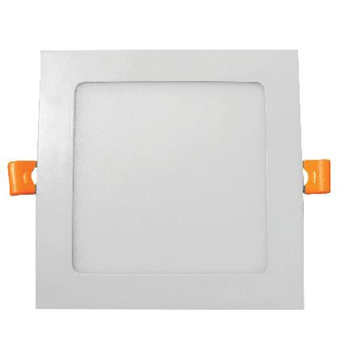 4 Inch LED Direct Wire Edge-Lit Square Downlight No Recessed Can Required - 11 Watt - 840 Lumens 5000K daylight