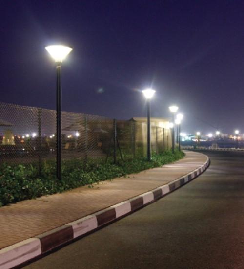 150 Watt LED Pole Light Fixtures With Pole Bracket Mount - 19,500 Lumens