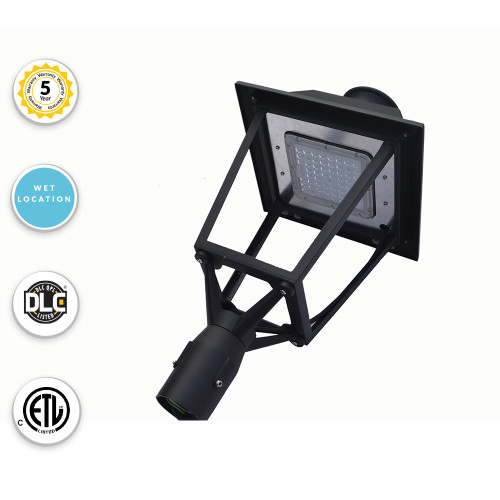 LED Post Top Downlight For Commercial Areas and Parking Lots - 30 Watt - 3600 Lumens - 5000K Daylight - Fits over 3 Inch Tenon Poles (requires adapter below for other sizes)