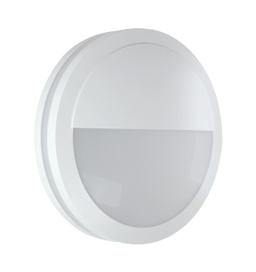 White Round LED Bulkhead Light - Ceiling or Wall Mount - Outdoor Wet Location UL Listed - 14 Watt - 1350 Lumens - 3000K