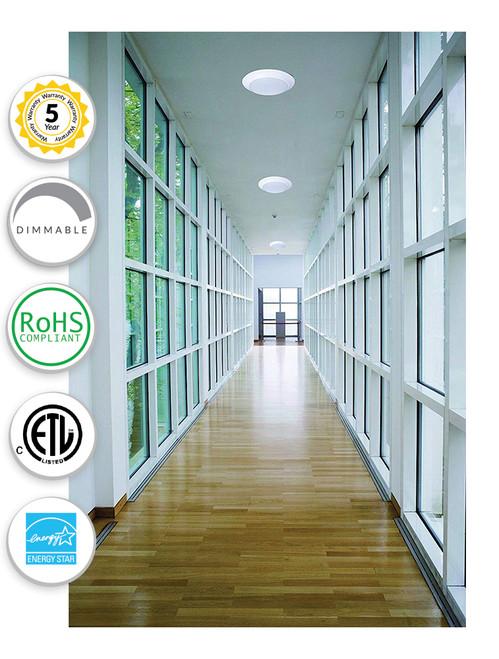 Designer Ceiling Light - 12W - White Housing - Frost Polycarbonate Lens