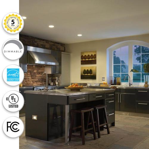4 Inch LED Can Light Recessed Downlight Retrofit - 3000K Soft White - 10 Watt - 700 Lumen - On Sale