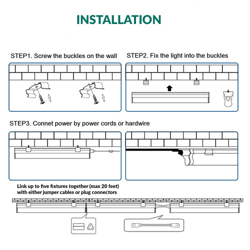 LED Integrated T8 Fixture - 2 Foot - 12 Watt - 1200 Lumens - 3500K Neutral White