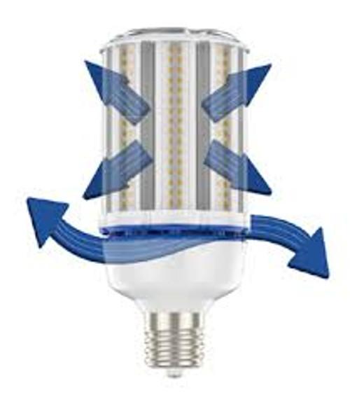 LED Corn Bulbs - 68 Watt - 320W Metal Halide Replacement - 5000K Daylight; Mogul Base; 100-277 volts