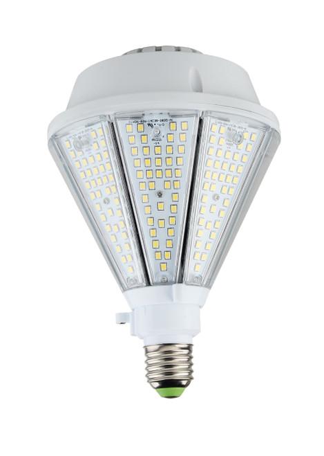 Post Top Corn Bulb - 80W Directional Parking Lot Light Bulb  - 400W Metal Halide Replacement - 5000K Daylight; Mogul Base - 120-277 Volts