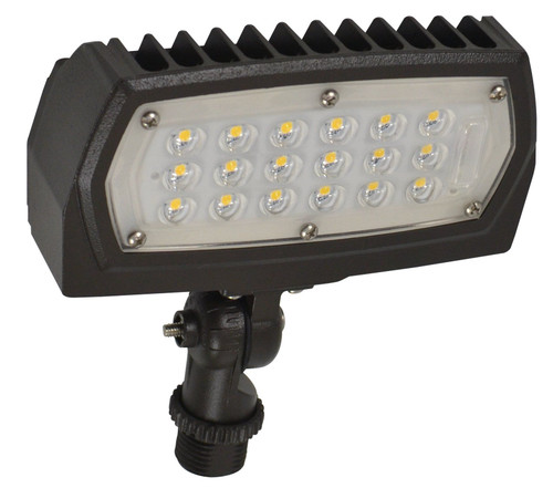 LED Outdoor Landscape Light, 5000K -  Can be used for all LED Outdoor Flood Light Requirements, 15 Watt - 1500 Lumens, with Adjustable Knuckle Mount