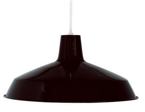 "Black Industrial Warehouse Style Pendant - 16"" Diameter"