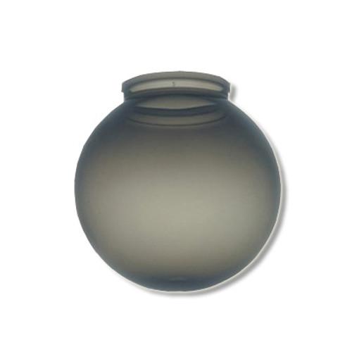6 Inch Plastic Globe Plain Lip Opening Smoke Acrylic