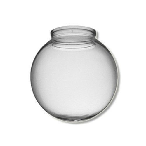 10 Inch Plastic Globe Plain Lip Opening Clear Acrylic
