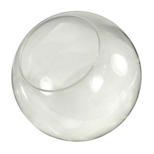 14 Inch Plastic Globe Neckless Opening Clear Acrylic