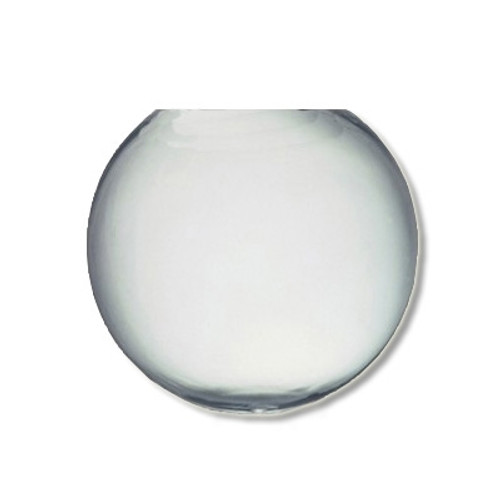20 Inch Plastic Globe Neckless Opening Clear Acrylic