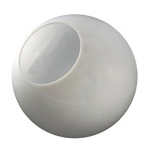 16 Inch Plastic Globe Neckless Opening White Acrylic
