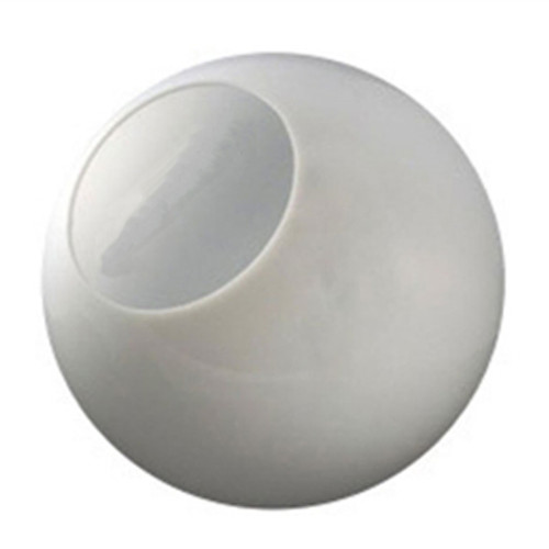 18 Inch Plastic Globe Neckless Opening White Acrylic
