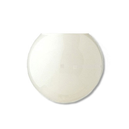 20 Inch Plastic Globe Neckless Opening White Acrylic