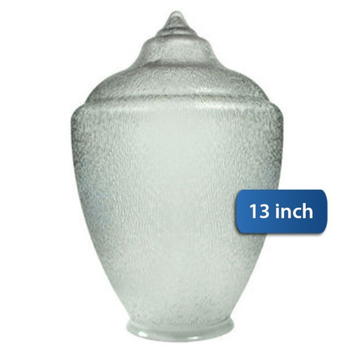 "Small Acorn Plastic Globe 4"" Plain Lip Opening - 13 inches"