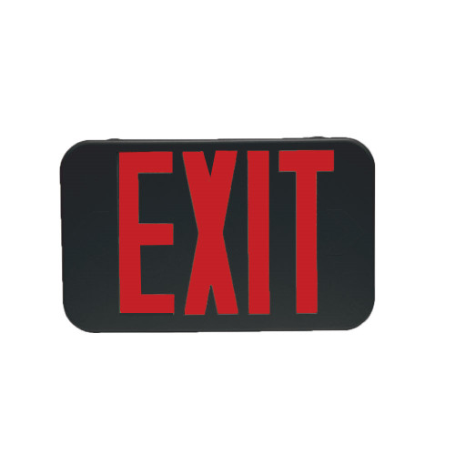 Black Plastic Led Exit Sign With Red Lettering - No Battery Back-Up