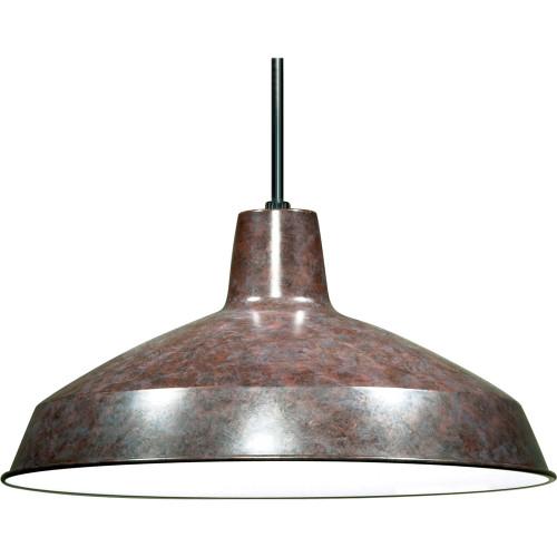"Old Bronze Industrial Warehouse Style Pendant - 16"" Diameter"