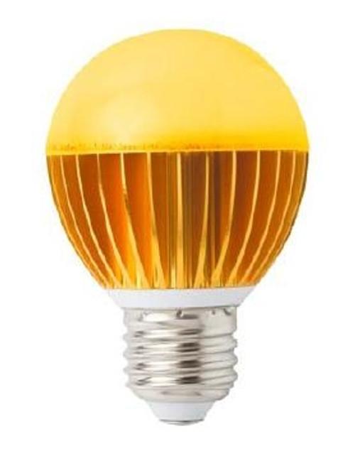 3 Watt Amber LED A19 Turtle Friendly Light Bulb - FWC Wildlife Lighting Certified