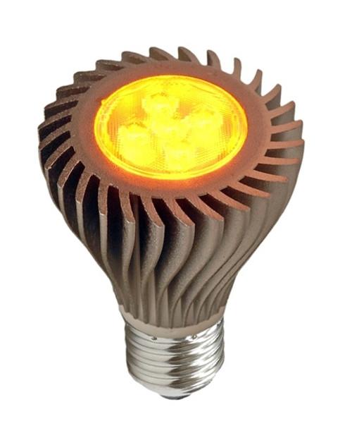 6 Watt Amber LED PAR20 With Medium Base - FWC Wildlife Lighting Certified