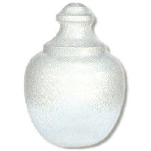 "Medium Acorn Plastic Globe with 8"" Plain Lip Opening, Clear Textured Polycarbonate - 25 inches"