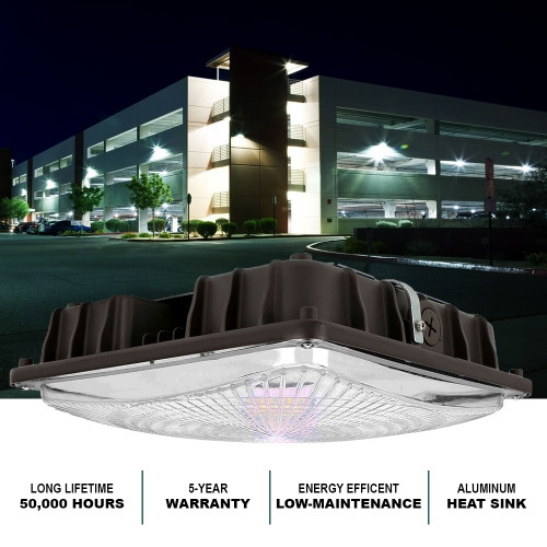 REALLY BRIGHT LED CANOPY LIGHT, PERFECT FOR GARAGES, CARPORTS AND STORAGE AREAS