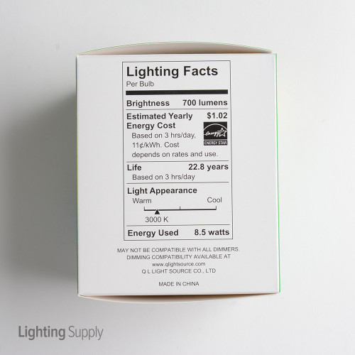 LED PAR30 Dimmable Flood Bulb, 9 Watt (75W Replacement) Soft White 3000K, 750 Lumens, 120 Volt