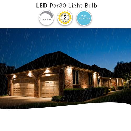 LED Wet Location PAR30 Flood Bulb, Indoor/Outdoor Rated,  Replaces 75 Watt Par30