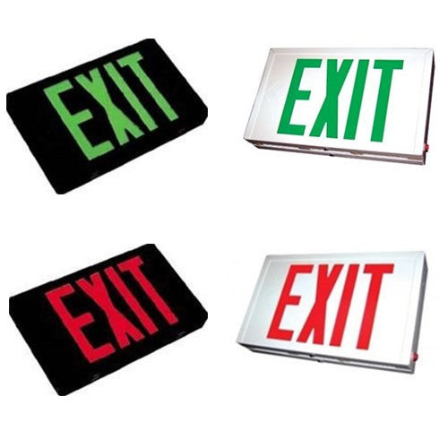 Steel Exit Sign  - LED - With Battery Back-Up