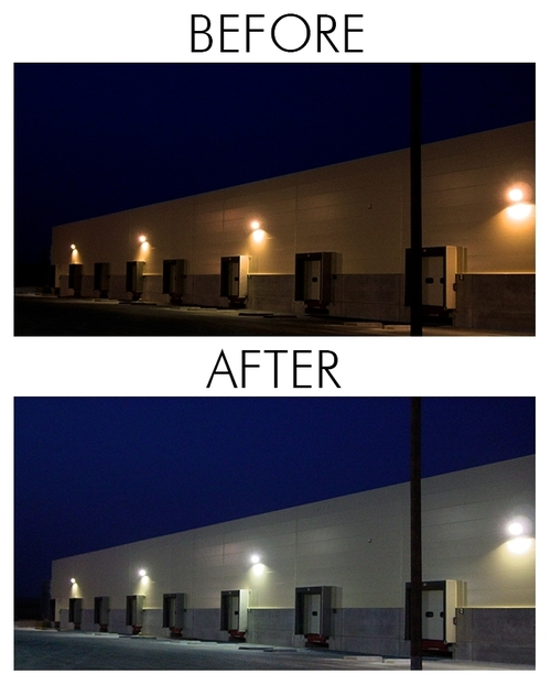 LED Dusk to Dawn Yard Light with Photo Cell - 45 Watt and 4900 Lumens