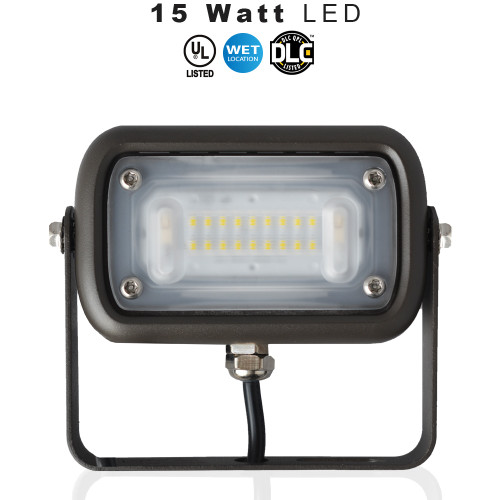 LED Up Light, 5000K  - Can be used for all LED Outdoor Flood Light Requirements, 15 Watt - 1500 Lumens,  With Adjustable U-Bracket Yoke Mounts