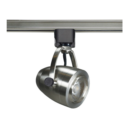 """Decorative LED Track Lighting Fixture with Pinch Back Head, Brushed Nickel Finish, 24<sup style=""""font-size:14px"""">o</sup> Beam, 12 Watt - 820 Lumens, 3000K Soft White Color Temperature,"""