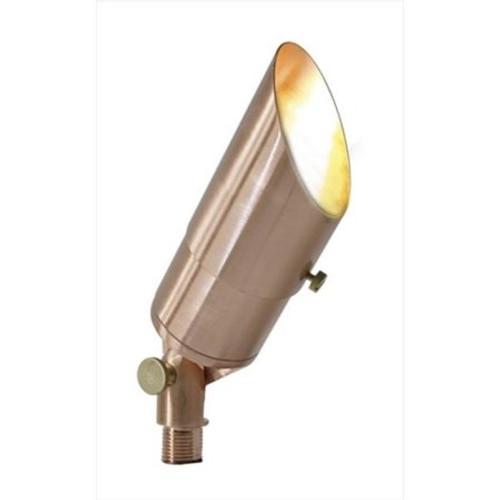 Solid Copper Landscape Flood Light - Raw Copper -  Includes 12V LED MR16 3000K Bulb