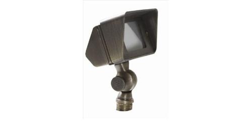 Solid Brass Directional Flood Light - Antique Bronze - Uses 12V MR16 724