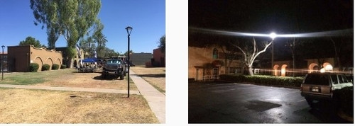 LED Pole Light Fixtures With Pole Bracket Mount - 50 Watt, 6500 Lumens