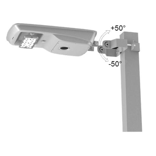 LED Solar Powered Commercial Street Lamp Post - 17 Watt Square Pole Mount 5000K Daylight