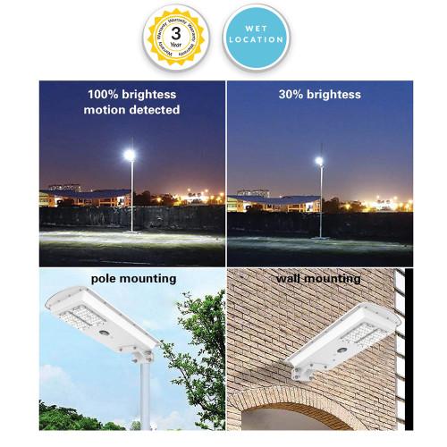 Solar LED Dusk to Dawn Security Light - 30 Watt 3000 Lumens
