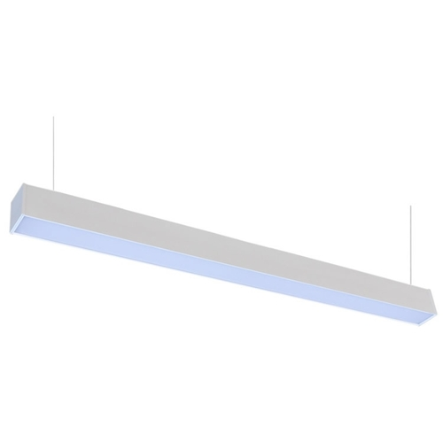 Suspended Linear LED Office Lighting - 4 Ft Office Hanging Light - Linkable