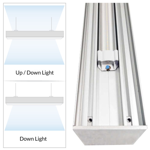 Suspended Linear LED Office Lighting - 4 Ft Office Hanging Light - Linkable