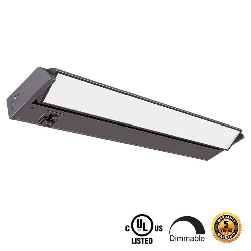 Best LED Adjustable Undercabinet Lights - Includes SWIVEL LENS, CHANGEABLE COLOR TEMPERATURE AND HI-LOW SWITCH - Choose Your Dimensions and Fixture Color