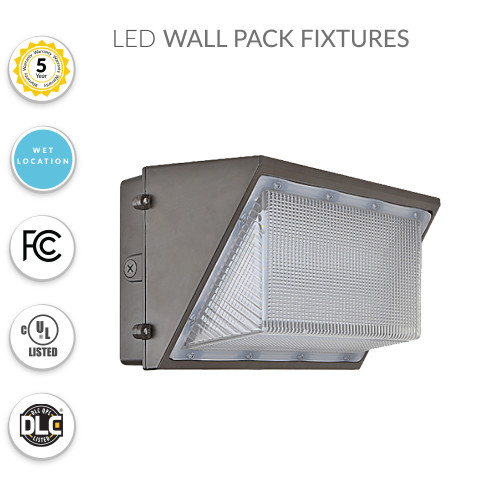 LED Wall Pack Security Light, 65 Watts Replaces 250MH - 8100 Lumens - 5000K