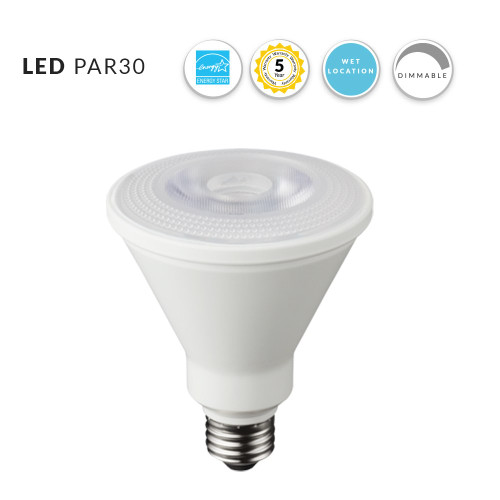 LED PAR30 DimmableFlood Bulb, 12 Watt (75W Replacement) Cool White, 4100K, - 120 Volt