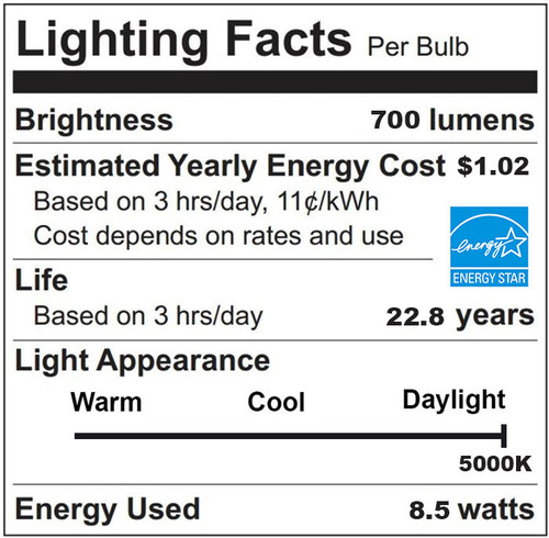 Daylight PAR30 LED 5000K Dimmable Flood Bulb, 9 Watt (75W Replacement) - 120 Volt