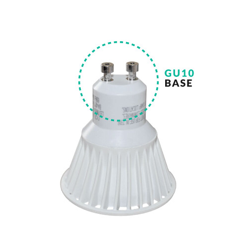LED MR16 GU10 BASE 120 VOLT- CHOOSE YOUR WATTAGE AND COLOR TEMPERATURE