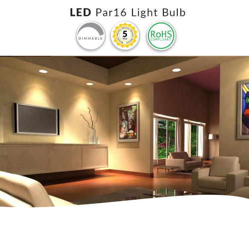 LED PAR16 Light Bulb - 7 Watt Dimmable (35W Replacement)